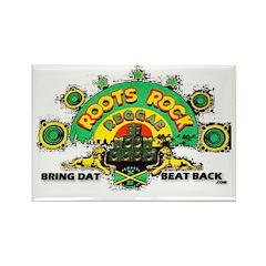 ROOTS ROCK REGGAE Rectangle Magnet (100 pack)