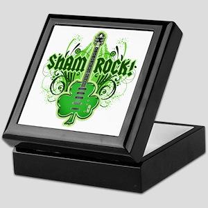 sham_ROCKS_filligree_and_text_both Keepsake Box