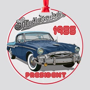55StuPresBlu-C8trans Round Ornament