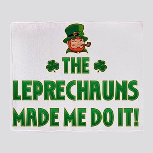 the_leprechauns_made_me_do_it_dark Throw Blanket