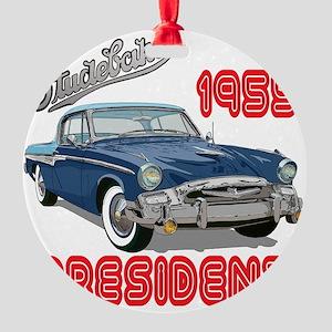 55StuPresBlu-10 Round Ornament