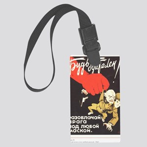 fightwithenemypost_00004 Large Luggage Tag