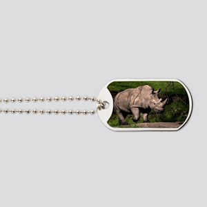 (6) Rhino on Hill Dog Tags