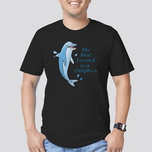 dolphin-10x10 Men's Fitted T-Shirt (dark)