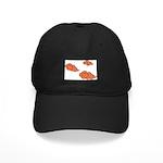 Orange Cloud Paiting Black Cap