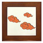 Orange Cloud Paiting Framed Tile