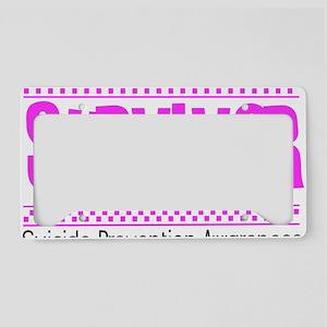 pink_survivor License Plate Holder