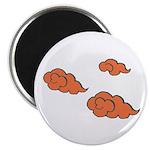 "Orange Cloud Paiting 2.25"" Magnet (100 pack)"