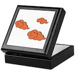 Orange Cloud Paiting Keepsake Box