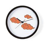 Orange Cloud Paiting Wall Clock