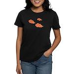 Orange Cloud Paiting Women's Dark T-Shirt