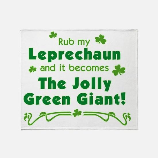 rub_leprechaun_both Throw Blanket