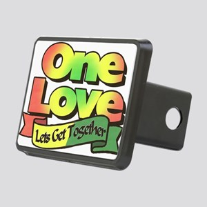One Love dark ready--color Rectangular Hitch Cover