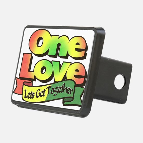 One Love dark ready--color Hitch Cover