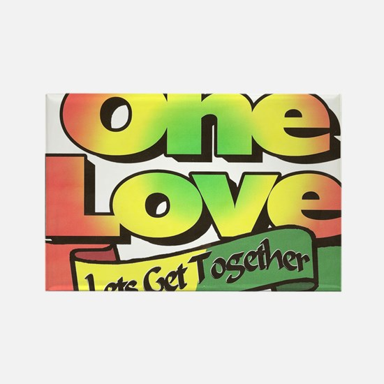 One Love dark ready--color Rectangle Magnet