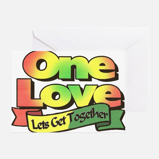 One Love dark ready--color Greeting Card