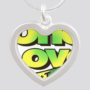 One Love dark ready--color Silver Heart Necklace