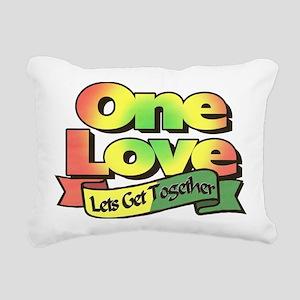 One Love dark ready--col Rectangular Canvas Pillow