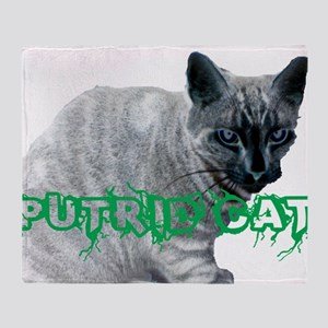 PUTRIDKITTY Throw Blanket