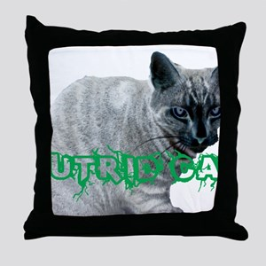 PUTRIDKITTY Throw Pillow