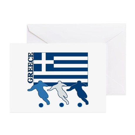 Soccer Greece Greeting Cards (Pk of 10)