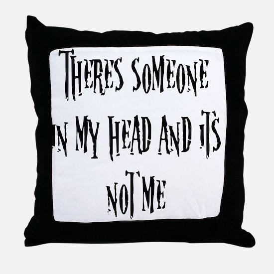 blackfill Throw Pillow