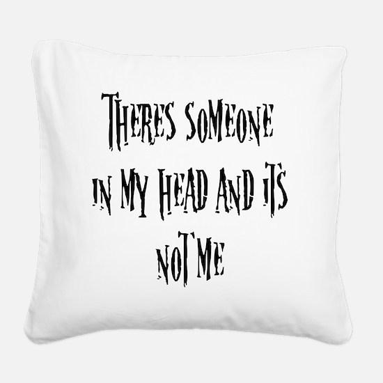 blackfill Square Canvas Pillow