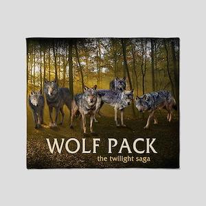 Eclipse Wolf Pack Throw Blanket