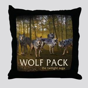 Eclipse Wolf Pack Throw Pillow