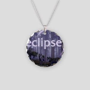 Twilight Eclipse Necklace Circle Charm