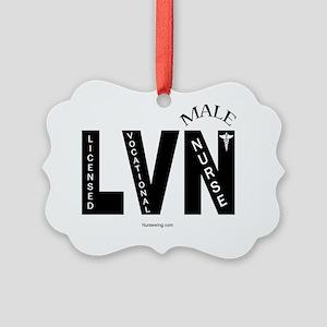 LVN-blin-rr Picture Ornament