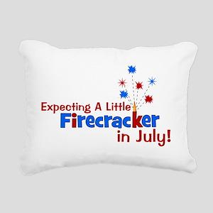 expectingalittlefirecrac Rectangular Canvas Pillow