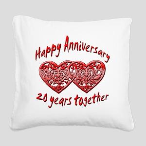 ann 20 Square Canvas Pillow