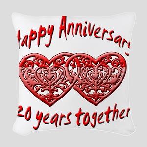 ann 20 Woven Throw Pillow