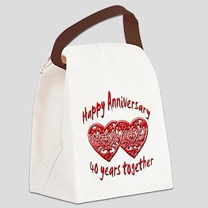 ann 40 Canvas Lunch Bag