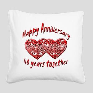 ann 40 Square Canvas Pillow