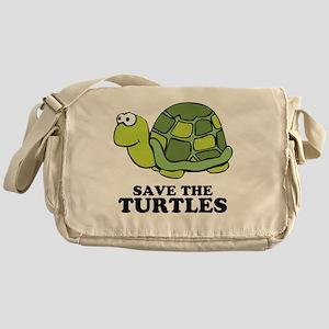 Save Turtles Messenger Bag