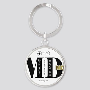 pmd-female Round Keychain