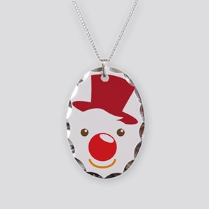 Cute simple Clown face Necklace Oval Charm