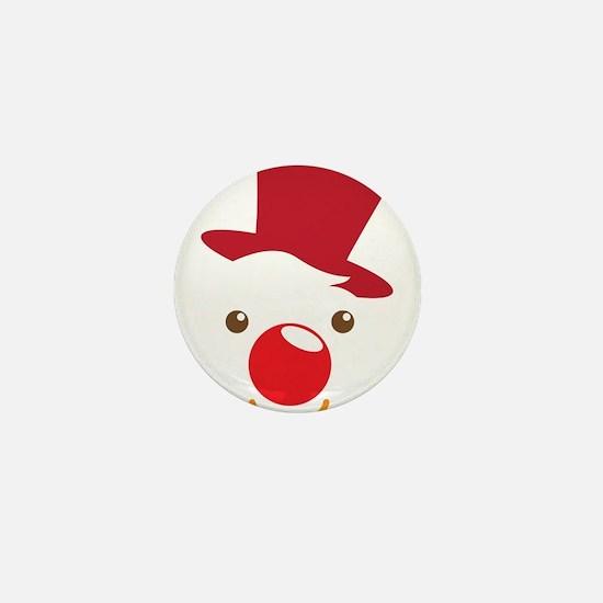 Cute simple Clown face Mini Button