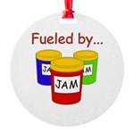 Fueled by Jam Round Ornament