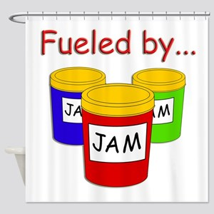 Fueled by Jam Shower Curtain