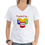 Fueled by Jam Women's V-Neck T-Shirt