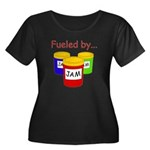 Fueled by Jam Women's Plus Size Scoop Neck Dark T-
