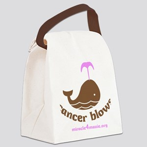 0001_cancerblows_whale_lt Canvas Lunch Bag