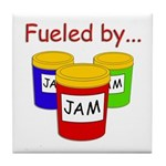 Fueled by Jam Tile Coaster