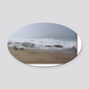 GCard_Calming Fog 1 of 3 copy Oval Car Magnet