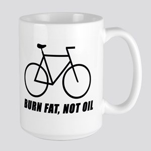 Burn fat, not oil (cycling) Large Mug