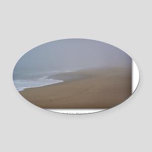 GCard_Calming Fog 2 of 3 copy Oval Car Magnet