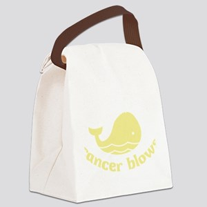 0005_cancerblows_whale_dk Canvas Lunch Bag